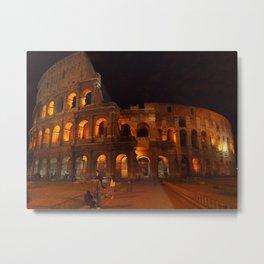 Colosseum at Night  Metal Print