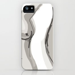 Nude Belly iPhone Case