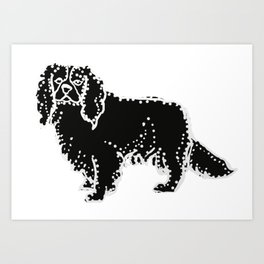 I have Connected the CAVALIER KING CHARLES SPANIEL Doggy Dots! Art Print
