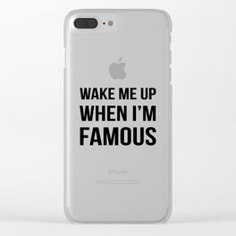 The Sudden Fame Clear iPhone Case