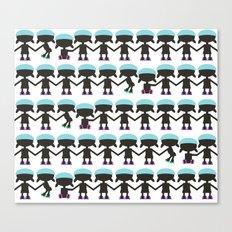 Roller Derby Paper Chain Dolls Canvas Print