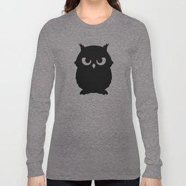 Owl Shadow White Black Long Sleeve T-shirt