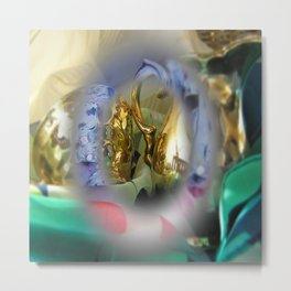 colors mugs gold Metal Print