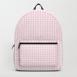 Soft Pastel Pink and White Hounds Tooth Check Backpack