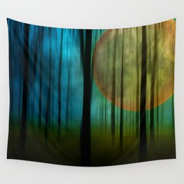 Full Moon Forest Wall Tapestry