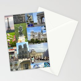 Paris Photo Collage Stationery Cards