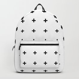 Black Plus on White /// www.pencilmeinstationery.com Backpack