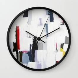 "No. 31 - Print of Original Acrylic Painting on canvas - 16"" x 20"" - (White and multi-color) Wall Clock"