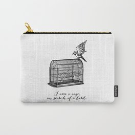 Franz Kafka - Cage in Search of a Bird Carry-All Pouch