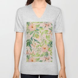 Pink Meadow Unisex V-Neck