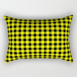 Classic Yellow Country Cottage Summer Buffalo Plaid Rectangular Pillow