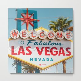 all day Welcome to Los Vegas Nevada Metal Print