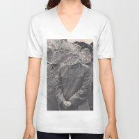 china V-neck T-shirts featuring China by Jordan Clark