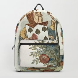 Alice in Wonderland - Painting the roses Backpack