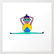 Yoga boy Art Print