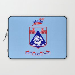 Flag of Haifa Laptop Sleeve
