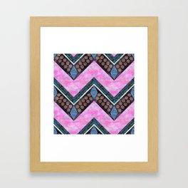 Jirra Boho Chevron {2A} Framed Art Print