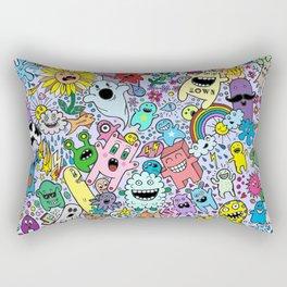 Doodles Lilac Rectangular Pillow
