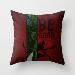Left of Krampus Throw Pillow