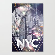 New York Moon Canvas Print