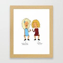Beavis Mattel and Butthead Zamolodchikova Framed Art Print