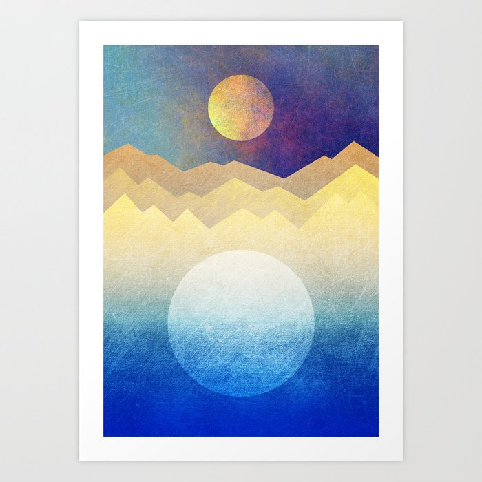 The sun and the moon Art Print