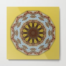Colors of Rust, mandala 03 Metal Print