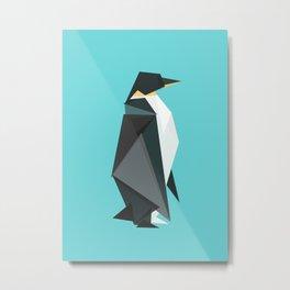 Fractal geometric emperor penguin Metal Print