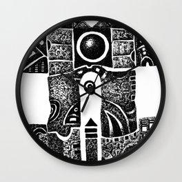 House of the black sun Wall Clock