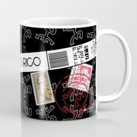 puerto rico Mugs featuring Welcome to Puerto Rico by Barney Ortiz