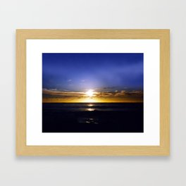 """Champagne Sunset Beach"" Framed Art Print"
