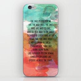Kerouac Watercolour: iPhone Skin
