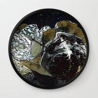 seashell Wall Clocks featuring seashell by MehrFarbeimLeben