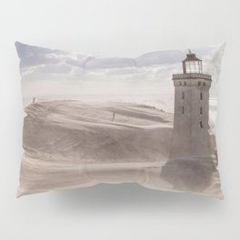 Sandstorm at the lighthouse Pillow Sham