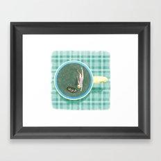 Tea Swimmer Framed Art Print