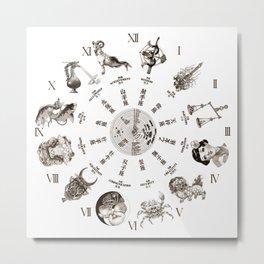 """JAPANESE HOROSCOPE CHART"" Metal Print"