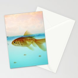 Drop me a line - Fishing for a Chat Stationery Cards