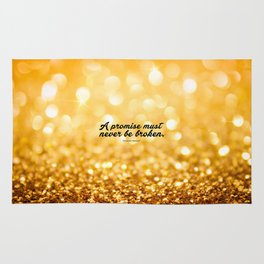 """A Promise never be broken... """"Alexander Hamilton"""" Inspirational Quote Rug"""