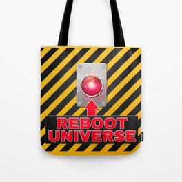 Reboot Universe Button Tote Bag