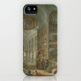Ancient Rome, by Giovanni Paolo Panini iPhone Case