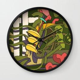 The Garden Fence Wall Clock