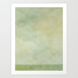 Early Morning Ocean (print of oil on canvas painting) Art Print