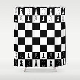 Chess Board Layout Shower Curtain