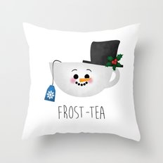Frost-tea Throw Pillow