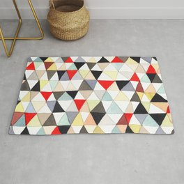 Geometric Pattern Watercolor & Pencil Robayre Rug