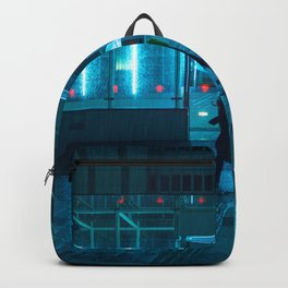 Rain over Neo Tokyo Backpack
