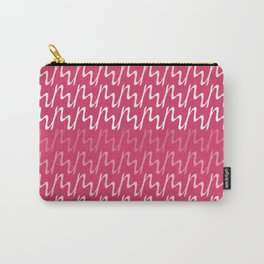 Red & Pink Ripple Pattern Carry-All Pouch