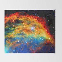 Rainbow Medusa Nebula Throw Blanket