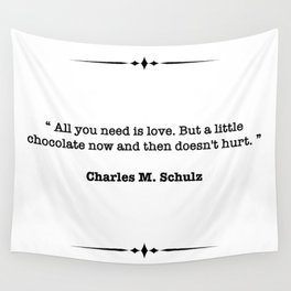 Charles M. Schulz Quote Wall Tapestry