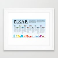 pixar Framed Art Prints featuring Pixar throughout the years by Jess & Julia